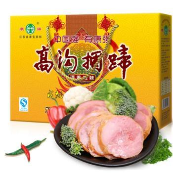 康强捆蹄800g微辣礼盒肉类美食熟食香肠火腿肠江苏淮安特产