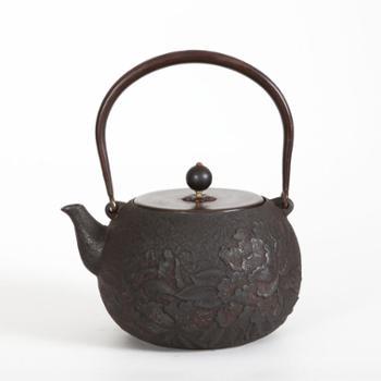示象堂铁壶-牡丹蝴蝶纯手工铸铁壶铁壶电陶炉泡茶壶煮茶烧水壶家用