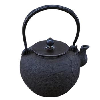 示象堂铁壶-佐藤清竹铁壶日本手工无涂层铸铁壶烧水铁茶壶原铁内壁