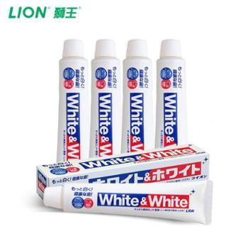 狮王(Lion)日本原装进口WHITEWHITE美白大白牙膏酵素牙膏150g4支装
