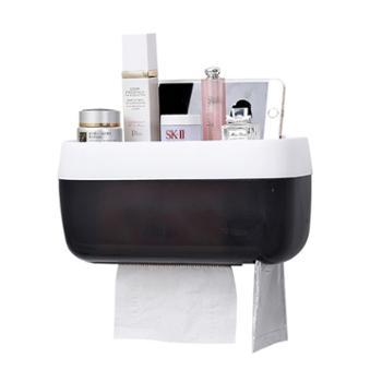 卉居免打孔卫生间纸巾盒厕纸盒创意置物架---单层小号