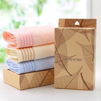 金号毛巾纯棉单条礼盒装柔软吸水洗脸巾成人家用情侣毛巾礼盒单条