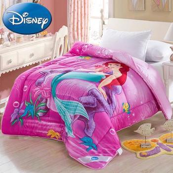 迪士尼儿童被子纯棉卡通冬被美人鱼008