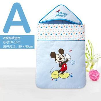 迪士尼新生儿抱被婴儿包被冬季加厚秋冬纯棉春秋襁褓包巾