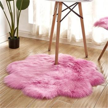 澳洲仿羊毛地毯卧室客厅地垫满铺飘窗垫办公椅子垫沙发垫