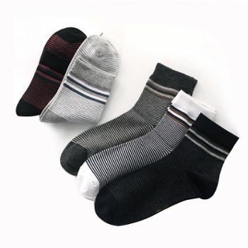 善融开学季沐杺5双装袜子男男士中筒袜子四季休闲棉袜