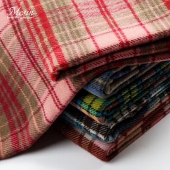 2018新款Checked格子英伦经典秋冬季女羊毛围巾百搭保暖披肩两用