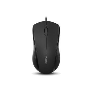 雷柏N1600有线静音鼠标游戏办公笔记本台式电脑USB鼠标