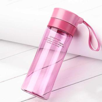 卡西诺水杯塑料便携学生太空杯大容量随手杯女创意运动水壶茶杯子500ml