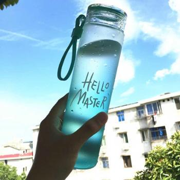 渐变色耐热玻璃杯男女大容量便携水杯随手杯创意茶杯韩国学生杯子