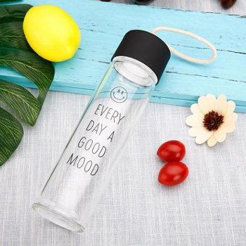 玻璃杯便携杯子女学生创意潮流水瓶原宿韩国清新可爱简约韩版水杯
