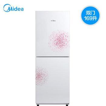 【陕西晟木电子】Midea/美的BCD-169CM(E)双门冰箱小型家用双开节能小双门电冰箱
