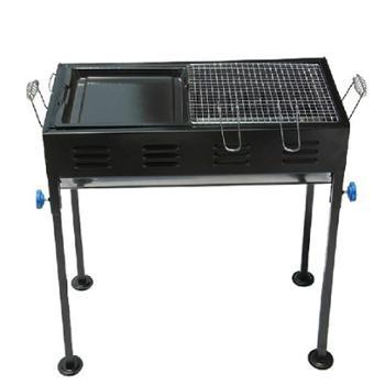 狂野者 烧烤炉户外便携 家用木炭 大码 带炸煎盘 5人以上烧烤架