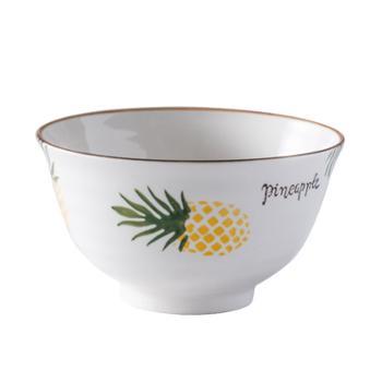 饭碗家用陶瓷碗5寸小汤碗单个瓷碗中式米碗吃饭碗碟套装北欧餐具