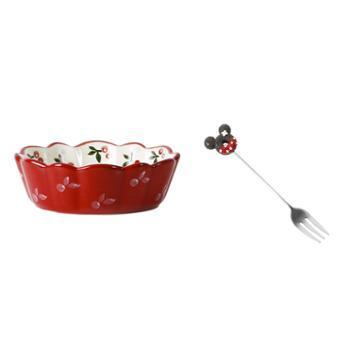 肆月 网红樱桃小碗 创意家用陶瓷餐具单个碗碟沙拉水果甜品早餐碗