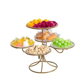 水果盘客厅创意家用干果盘糖果盘网红多层分格水果篮甜品台展示架