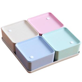 创意现代分格果盘家用干果盘干果盒水果盘客厅茶几瓜子零食糖果盒