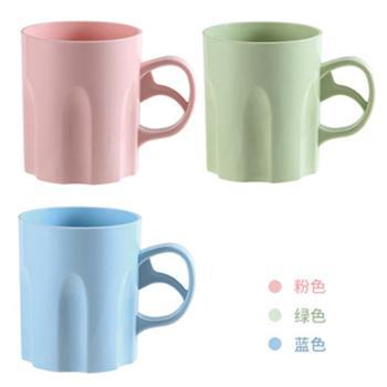 简约洗漱杯情侣刷牙杯家用塑料带手柄塑料杯