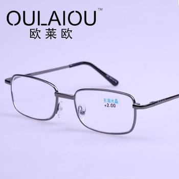 oulaiou/欧莱欧时尚老花镜老花镜水晶欧莱欧092弹簧细腿眼镜
