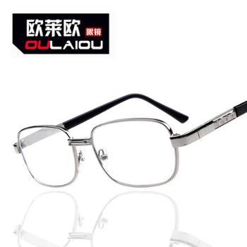 oulaiou/欧莱欧老花镜金属架全框架玻璃新款老人眼镜093