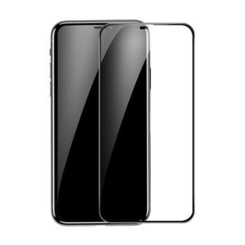 倍思 适用于苹果iPhoneXr Xs Max保护膜 0.3mm护边全屏曲面钢化膜