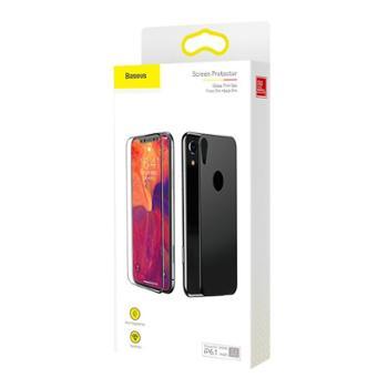 倍思 适用苹果iPhoneXs max手机膜 Xr钢化膜套装6.1/6.5 玻璃膜