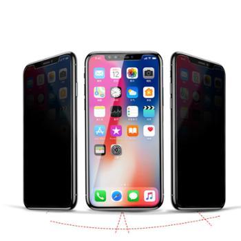 Baseus/倍思 适用苹果iPhoneX 防粘指纹全玻璃防窥钢化膜 0.3mm
