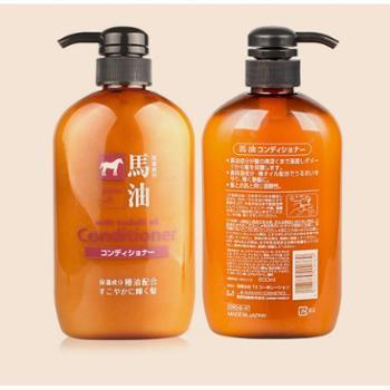 日本熊野马油600ml护发素保湿去头皮无硅油配方
