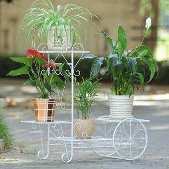 索尔诺欧式花架铁艺多层客厅吊兰绿萝架子阳台室内落地田园花盆架