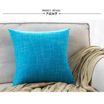 沙发抱枕2个 汽车腰靠 素色 靠垫 40*40cm