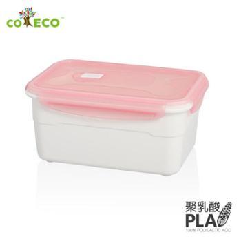 coeco/可爱客环保长方形保鲜盒2.3L玉米PLA饭盒