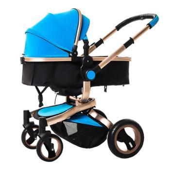 TEKNUM婴儿推车高景观可坐平躺冬夏季两用双向四轮折叠儿童手推车