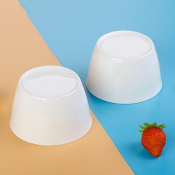 Homy-4.3英寸纯白无铅骨瓷日式碗陶瓷碗骨质瓷健康餐具碗东洋碗汤碗饭碗2件装-陶瓷餐具套装礼品