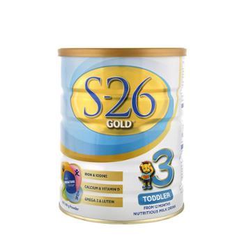 澳洲新版惠氏奶粉S26奶粉金装3段婴幼儿奶粉S26金装900g澳洲原装进口1-3岁宝宝2020年9月到期