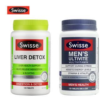 Swisse护肝片120粒+Swisse男士复合维生素120粒澳洲进口2022年4月到期