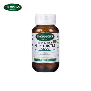 Thompson's汤普森奶蓟草护肝胶囊60粒 高浓缩奶蓟草精华 澳洲进口 2021年4月到期