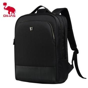 爱华仕(OIWAS)时尚休闲商务电脑双肩包4203 黑色