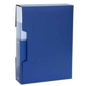 得力(deli)5006办公必备A4/80页资料册蓝色单只装