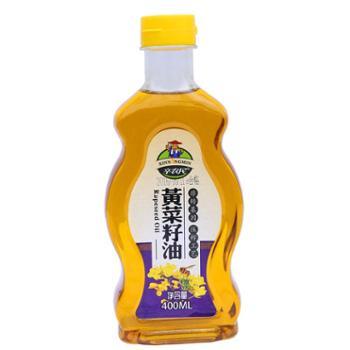辛农民黄菜籽油400ML体验装