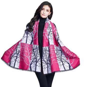 牧都绒语新款羊绒印花围巾EWJ17