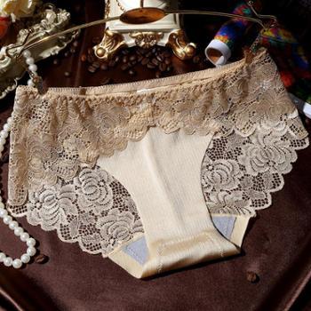 3条高品质贵族 女式三角裤拉丝性感无痕内裤少女蕾丝女士内裤中腰