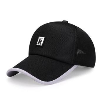 帽子男夏韩版太阳帽春夏新款网眼棒球帽户外休闲字母遮阳鸭舌帽