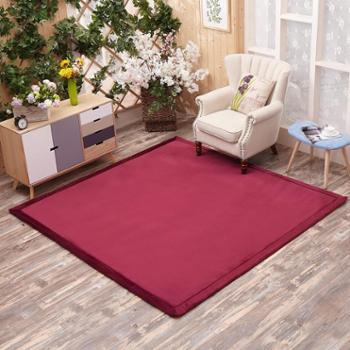 格温多琳加厚纯色珊瑚绒防滑地毯日式榻榻米地垫飘窗定制