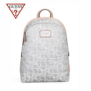GUESS美国盖尔斯 新款女士时尚欧美印花双肩包背包书包旅行包女包包 GSB1507C002GY