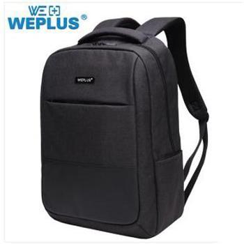 唯加/WEPLUS 休闲简约电脑背包 男女款书包 WP1755 颜色随机