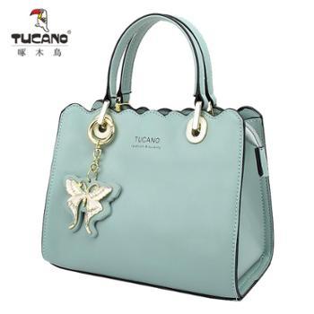 啄木鸟女包单肩包手提包新款百搭时尚欧美风纯色小包包斜挎包