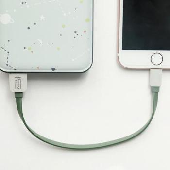 【两条装】两条装自己备注冇心新品 纯系列20cm数据线适用于iPhone安卓苹果手机