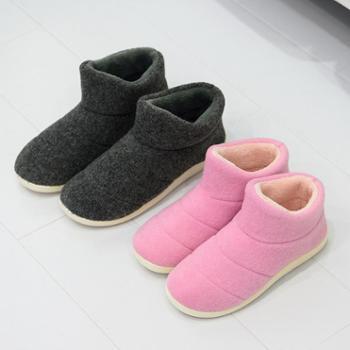 安尚芬冬季新款高帮棉拖鞋女可爱家居家居耐磨防滑软底情侣包跟棉拖鞋男