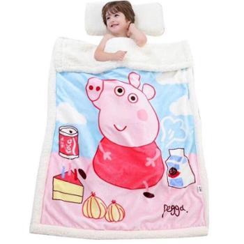 双层牛奶绒羊羔绒儿童毛毯法莱绒毛毯珊瑚绒毯子云貂绒宿舍幼儿园午睡盖被