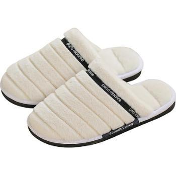 新款保暖毛绒居家棉拖女冬季室内防滑家居情侣棉拖鞋